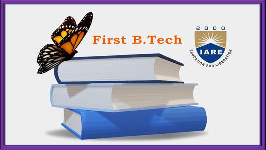 First B.Tech